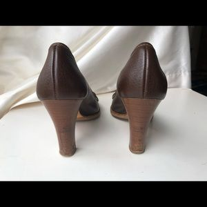 """BALLY BROWN GENUINE LEATHER 3.5"""" HIGH PUMPS, SHOES"""